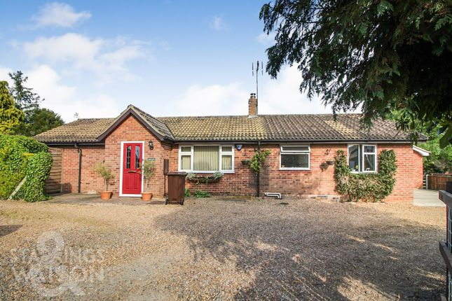 Thumbnail Detached bungalow for sale in Old Post Office Lane, Kirby Cane, Bungay