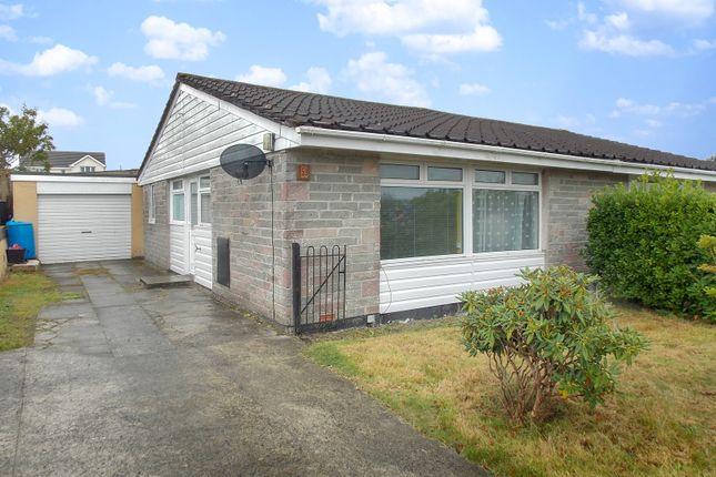 Thumbnail Semi-detached bungalow to rent in Dennis Gardens, Tregadillett, Launceston, Cornwall
