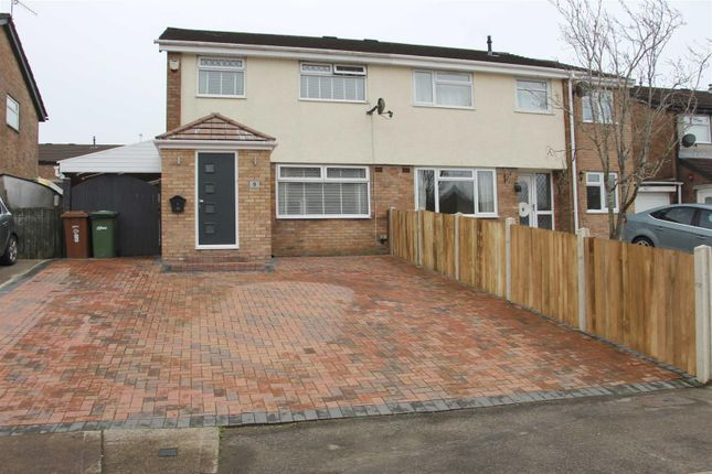 Thumbnail Semi-detached house for sale in Maes Y Drudwen, Glenfields, Caerphilly