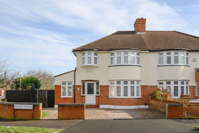 Thumbnail Semi-detached house for sale in Parkside Crescent, Surbiton