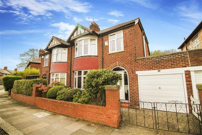 Thumbnail Semi-detached house for sale in Rosebery Crescent, Jesmond, Tyne And Wear