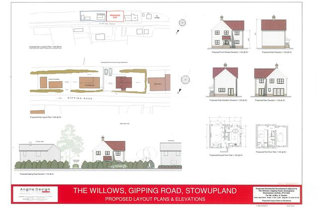 Thumbnail Land for sale in Gipping Road, Stowupland
