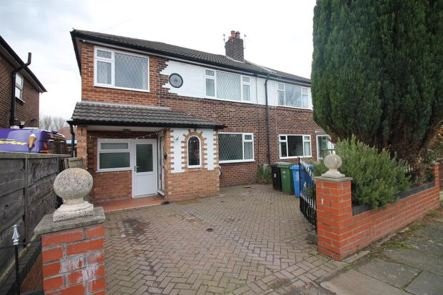 Thumbnail Semi-detached house to rent in Leyburn Avenue, Urmston, Manchester