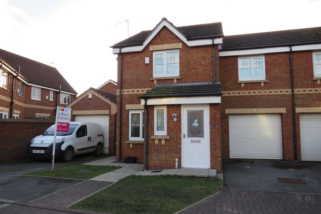 Thumbnail Semi-detached house for sale in Eildon Hills Close, Bransholme, Hull