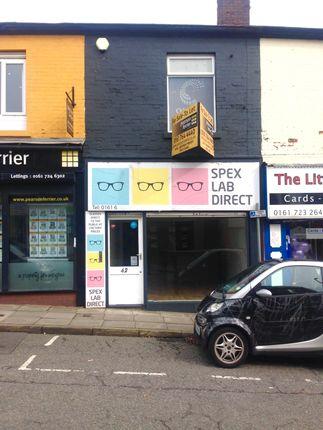 Thumbnail Retail premises for sale in 42 Blackburn Street, Manchester, Greater Manchester