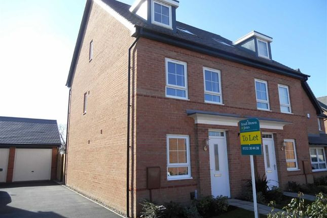 Thumbnail Semi-detached house to rent in Earls Drive, Stenson Fields, Derby