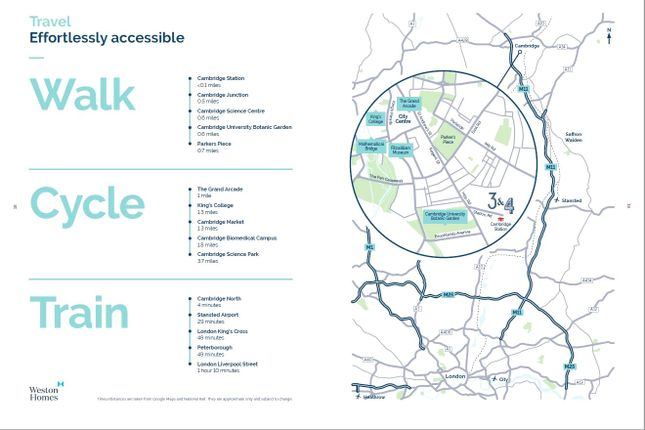 Travel Map of Station Road, Cambridge CB1