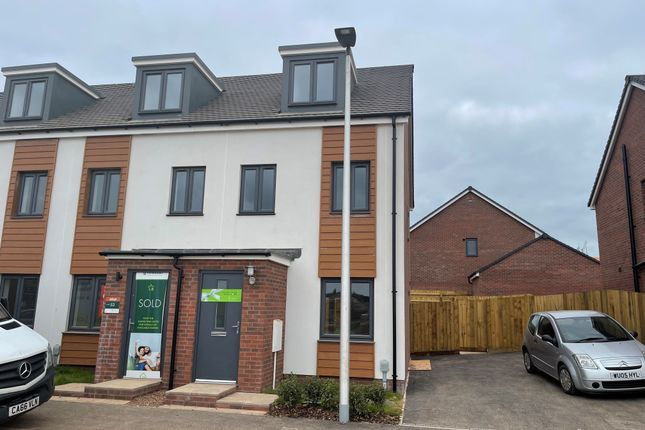 Thumbnail End terrace house to rent in Hutchings Drive, Tithebarn, Exeter
