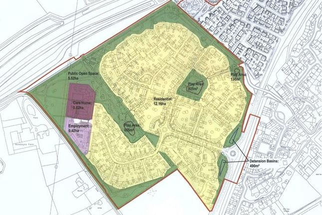 Thumbnail Land for sale in Land @ Whittington Crescent, Marston Moretaine, Marston Feilds, Bedford, Bedfordshire