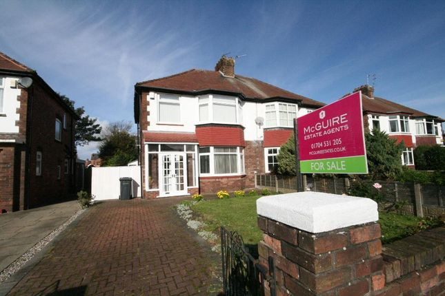 Thumbnail Semi-detached house for sale in Leybourne Avenue, Birkdale, Southport