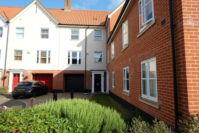 Thumbnail Town house to rent in Indigo Yard, Norwich, Norfolk