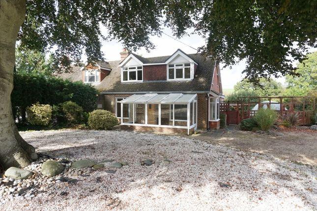 Thumbnail Semi-detached house for sale in Horsebridge, Kings Somborne, Stockbridge, Hampshire
