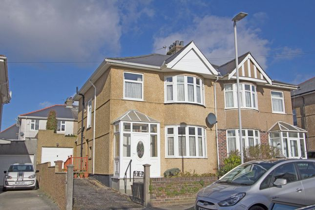 Thumbnail Semi-detached house for sale in Langhill Road, Peverell, Plymouth