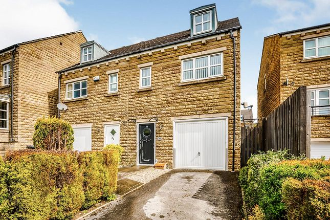 Thumbnail Semi-detached house for sale in Long Hill Road, Huddersfield, West Yorkshire