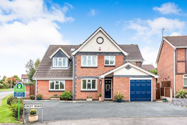 Thumbnail Detached house for sale in Crest Road, St. Georges, Telford