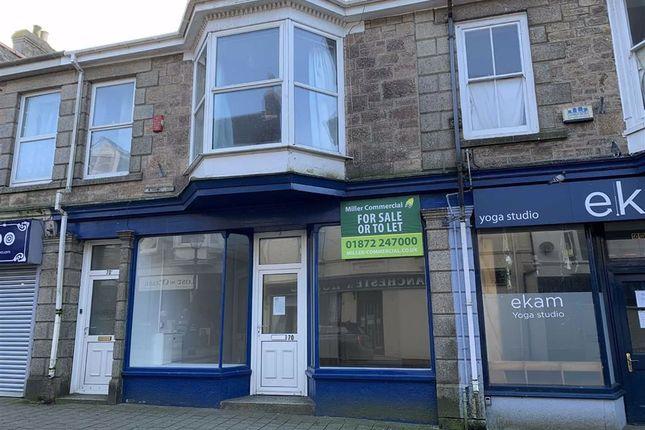 Thumbnail Retail premises to let in Ground Floor, 70, Trelowarren Street, Camborne, Cornwall