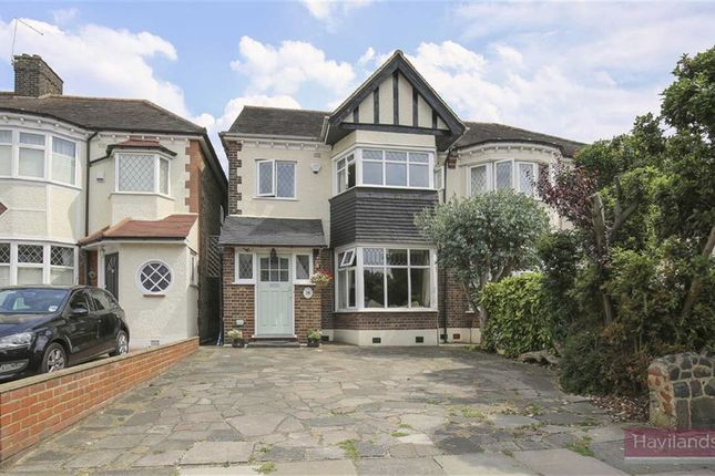 Thumbnail Semi-detached house for sale in Green Moor Link, Winchmore Hill, London