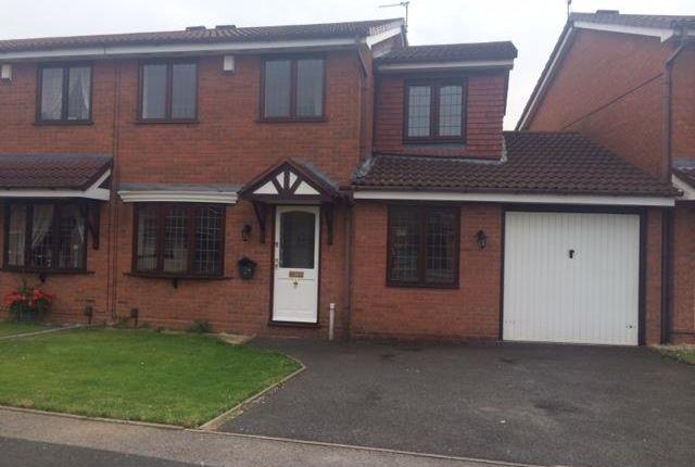 Thumbnail Semi-detached house to rent in Jasmine Way, Darlaston, Wednesbury