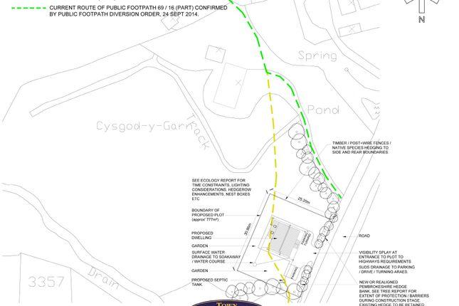 Thumbnail Land for sale in Mynachlogddu, Clynderwen