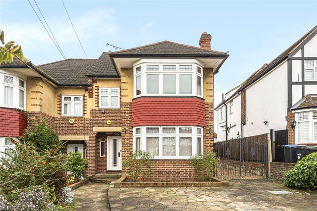 Thumbnail Semi-detached house for sale in Kenwood Avenue, Oakwood, London