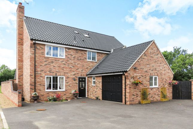 Thumbnail Detached house for sale in Fieldings Drive, Yaxham, Dereham
