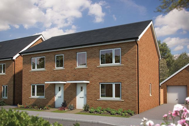 "Thumbnail Semi-detached house for sale in ""The Hazel"" at Amesbury Road, Longhedge, Salisbury"