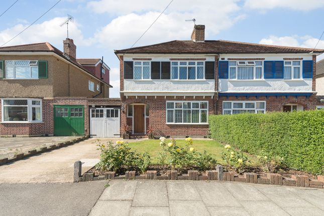 Thumbnail Semi-detached house for sale in Tewkesbury Avenue, Pinner, Middlesex