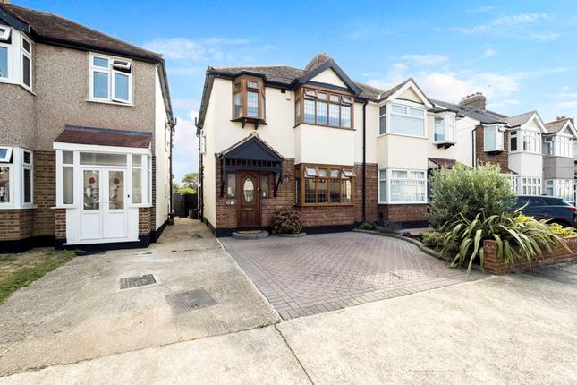 Thumbnail Semi-detached house for sale in Chester Avenue, Cranham, Upminster