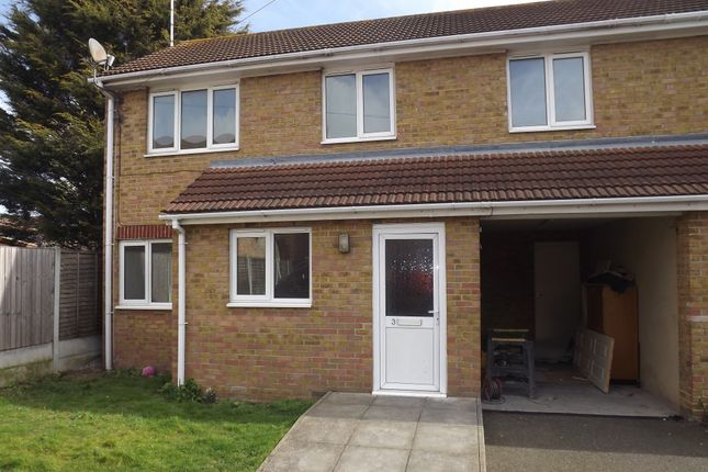 Thumbnail Semi-detached house to rent in St. Andrews Close, Shoeburyness