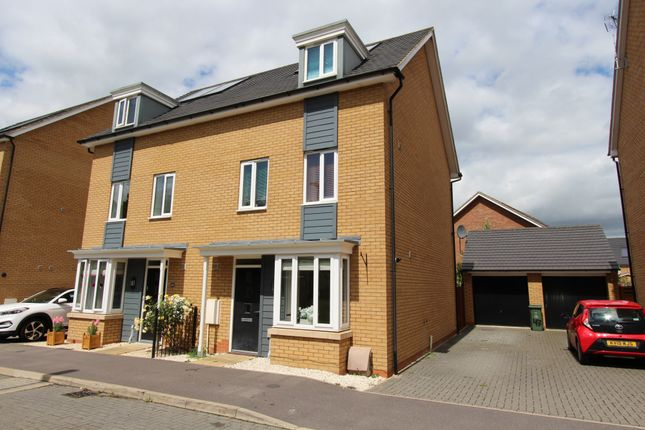 Thumbnail Semi-detached house to rent in Syward Row, Milton Keynes, Buckinghamshire