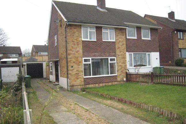 Thumbnail Semi-detached house to rent in Miller Drive, Fareham