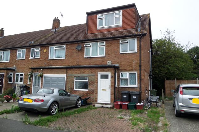 Thumbnail End terrace house for sale in Wellington Road, Bedfont, Feltham