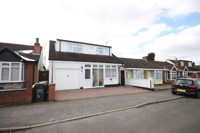 Thumbnail Detached bungalow for sale in Brighton Avenue, Syston, Leicester
