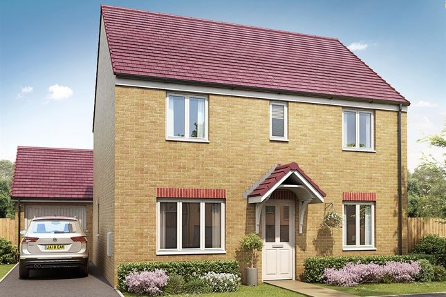 "Thumbnail Detached house for sale in ""The Chedworth"" at Bridgend Road, Bryncae, Llanharan, Pontyclun"