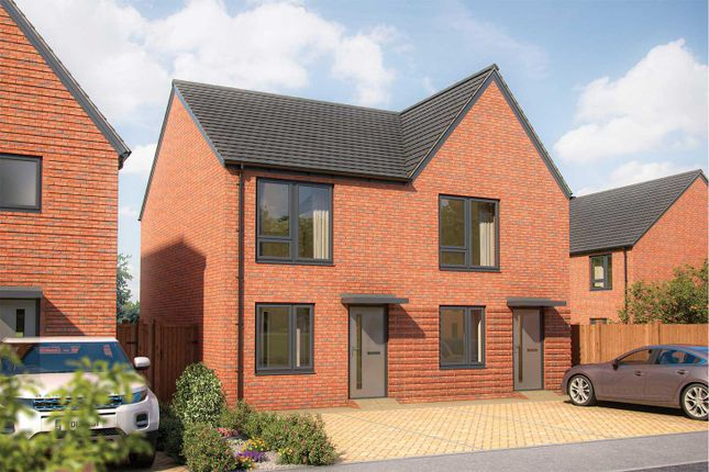 """Thumbnail Semi-detached house for sale in """"The Hardwick"""" at Whitecotes Lane, Chesterfield, Derbyshire, Chesterfield"""