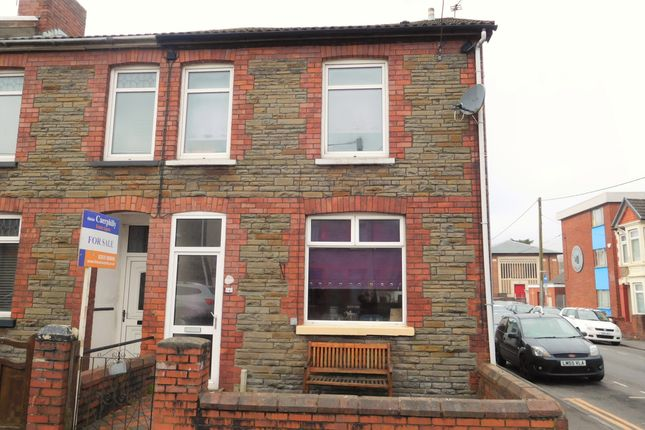 Thumbnail End terrace house for sale in Bradford Street, Caerphilly