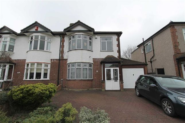 Thumbnail Semi-detached house to rent in Hartsmead Road, Mottingham, London