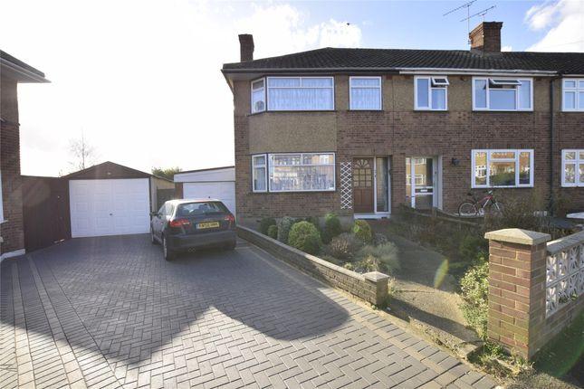 Thumbnail End terrace house to rent in Glenton Close, Romford