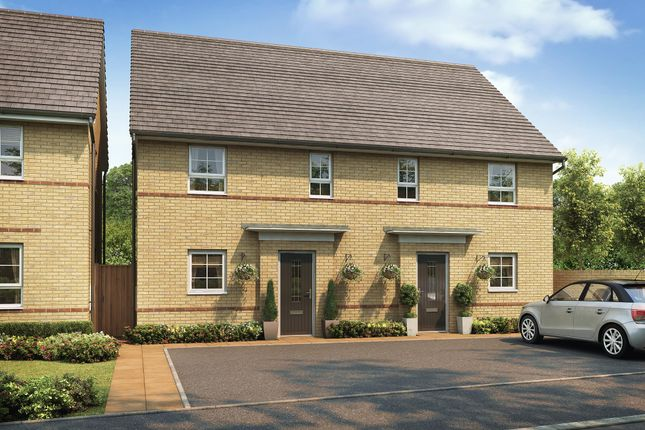 "Thumbnail Semi-detached house for sale in ""Hampton"" at The Ridge, London Road, Hampton Vale, Peterborough"