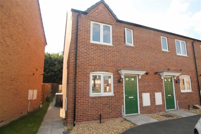 Thumbnail End terrace house to rent in Thomas Penson Road, Gobowen, Shropshire