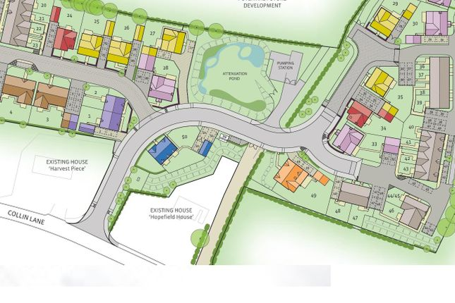 Site Plan of Hewins Place, Willersey, Broadway WR12