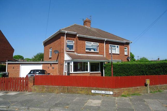 Thumbnail Semi-detached house for sale in Dilston Drive, Ashington