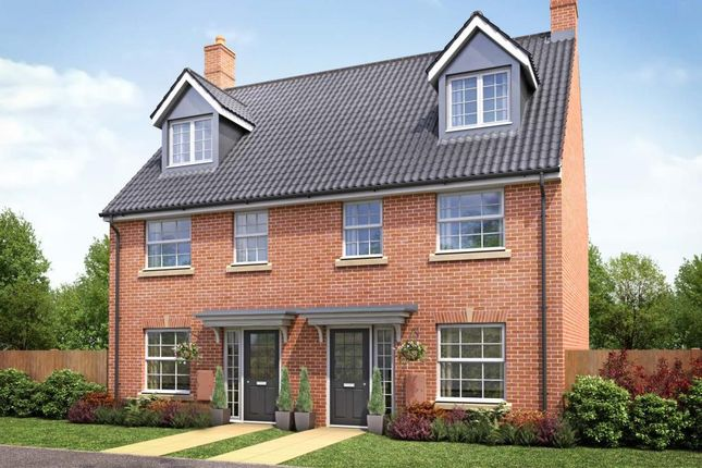 "Thumbnail Terraced house for sale in ""Plot 702 - The Bishopton"" at Boulmer Avenue Kingsway, Quedgeley, Gloucester"