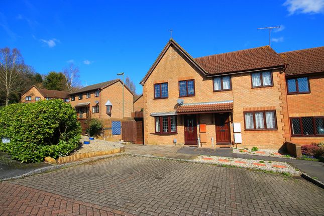 Thumbnail End terrace house for sale in Lydford Close, Frimley, Camberley