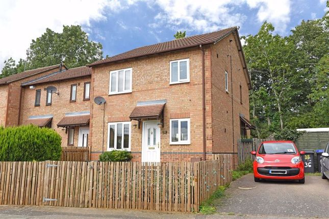 Thumbnail End terrace house for sale in Lindisfarne Way, Northampton