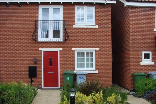 Thumbnail Terraced house to rent in Parsons Close, Fernwood, Newark