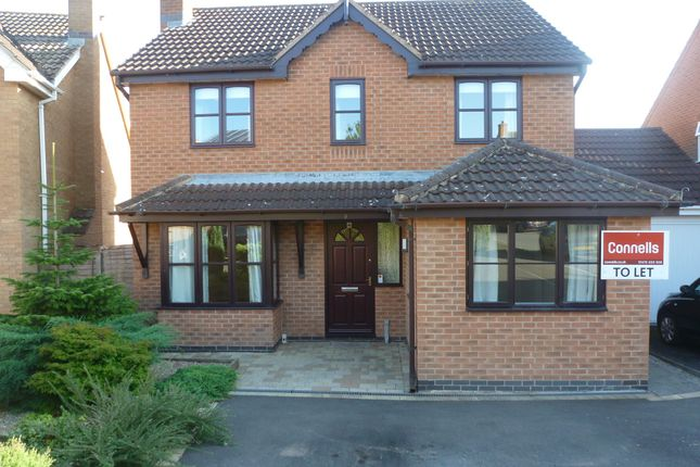 Thumbnail Detached house to rent in Mendip Close, Gonerby Hill Foot, Grantham