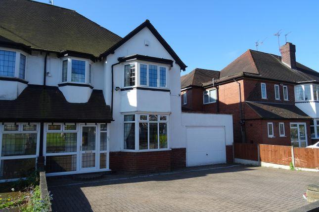 Thumbnail Semi-detached house for sale in Court Oak Road, Harborne, Birmingham