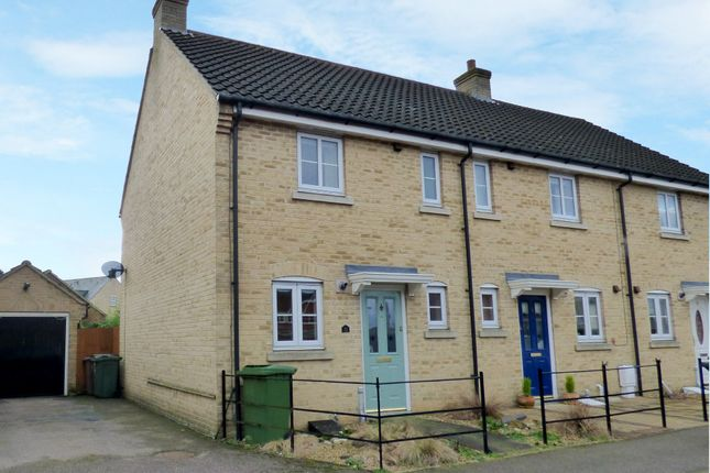 Thumbnail End terrace house for sale in Field Acre Way, Long Stratton, Norwich