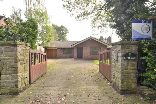 Thumbnail Detached bungalow for sale in Little Ash, Street Lane, Lower Whitley, Warrington